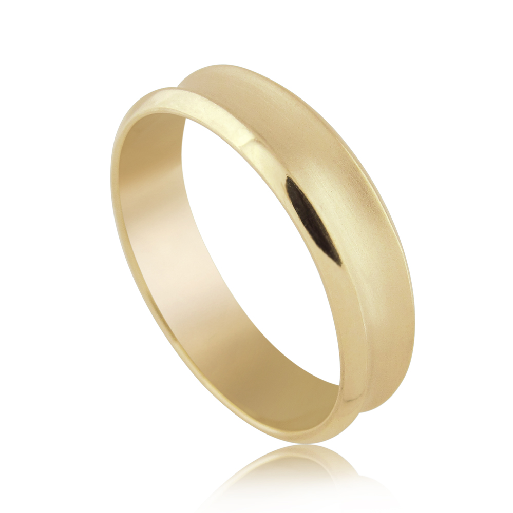 Thin Milgrain Wedding Band Ring in 14K Gold
