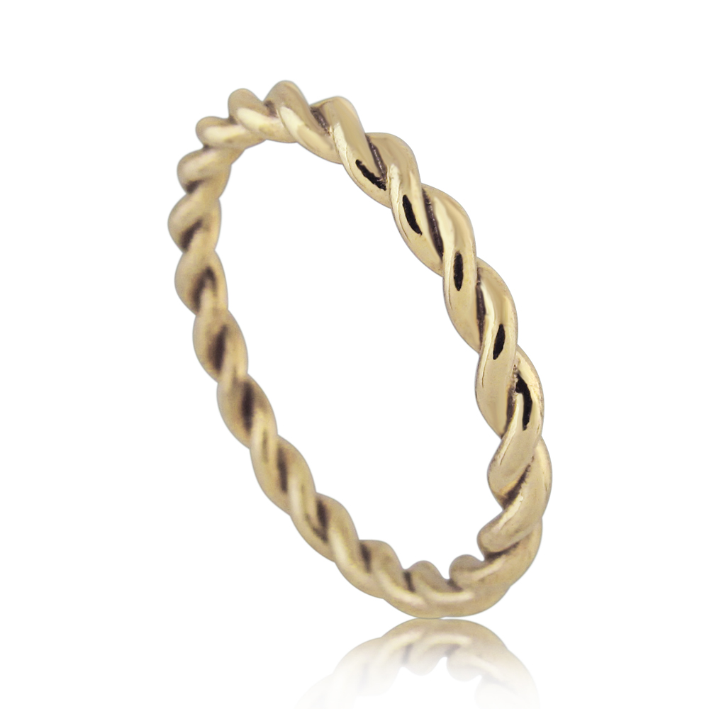 14K Yellow Gold Rope Wedding Ring