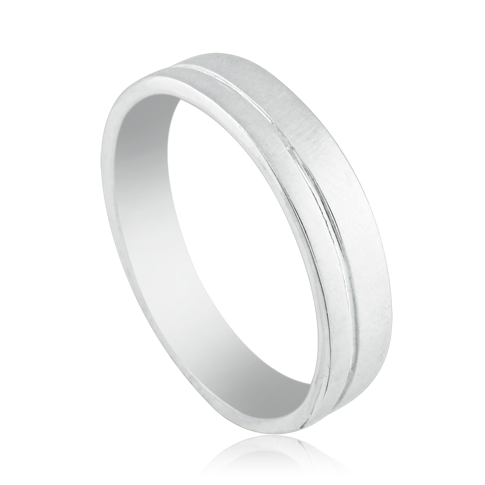 14K White gold designed with one strip