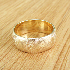 14k Yellow Gold Slight Dome Wedding Ring